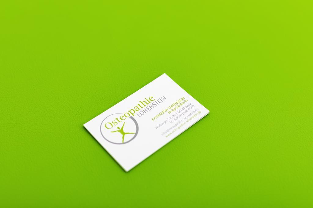 Visitenkarte Praxis Osteopathie Lohenstein